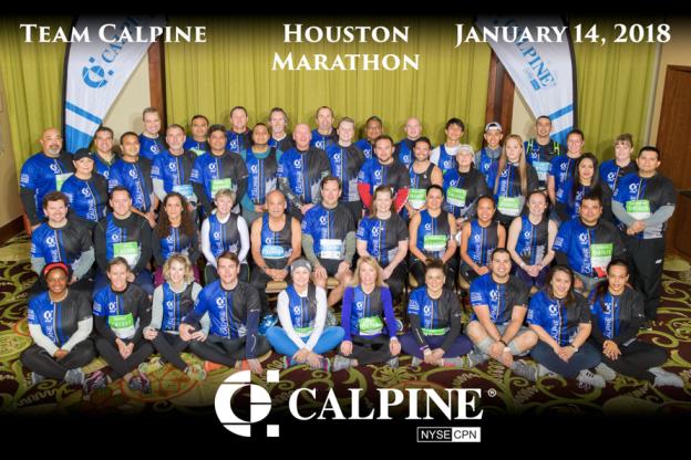 Team Calpine runs the Houston Marathon
