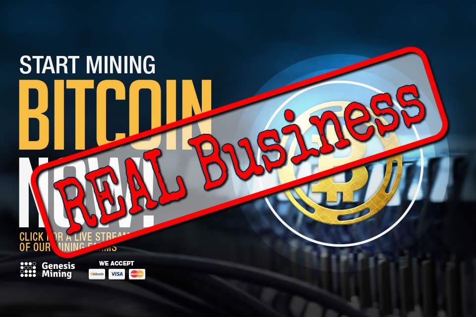 Genesis Mining REAL BUSINESS