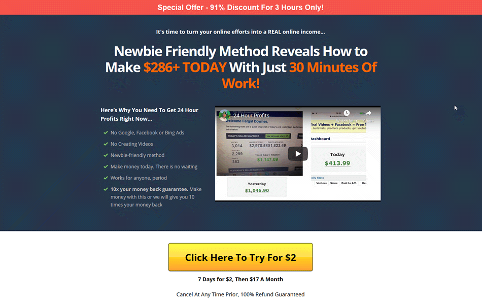 Simple, Easy to Follow, Money Secret – Easy to Make a Profit Review of 24 Hour Profits