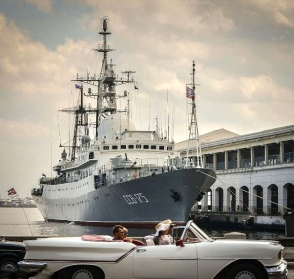 The Viktor Leonov in Havana