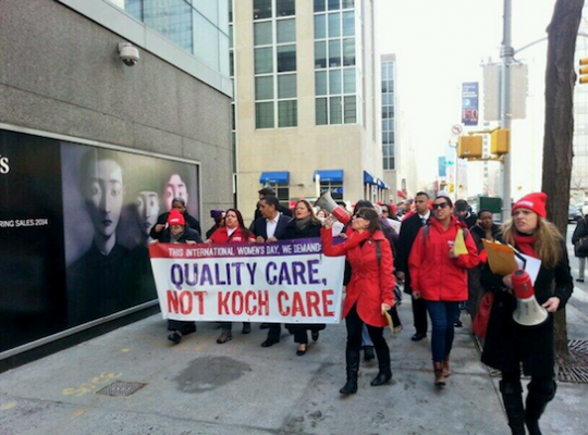 Liberals march to protest improved health care