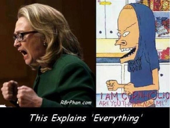 Hillary Butthead copy