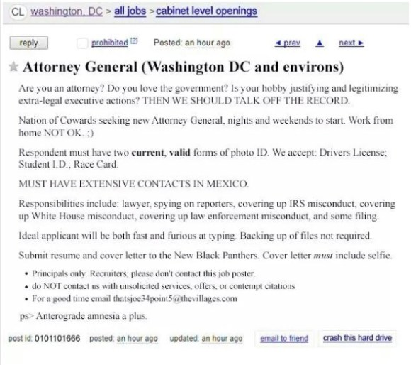 AG Craigs List ad copy