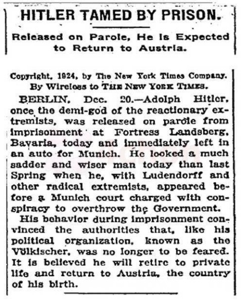 The New York Times: Getting it right since 1924.