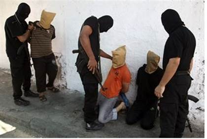 Gazans about to be murdered by Hamas