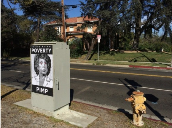 This one appears across the street from Walters' multi-million dollar home.  Heh.