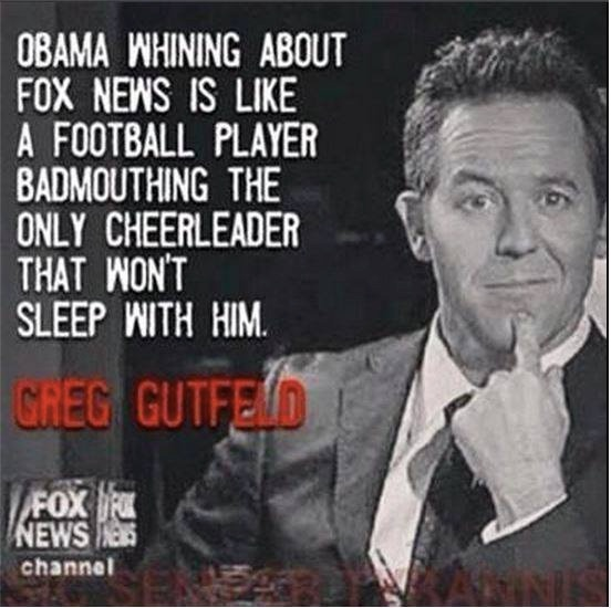 Gutfeld on Obama copy