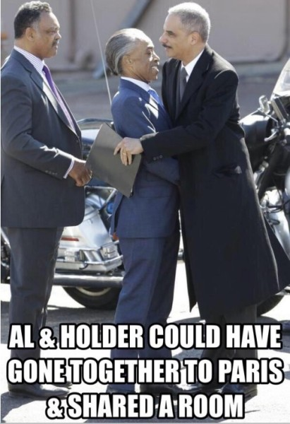 And just where the heck is Sharpton's right hand?