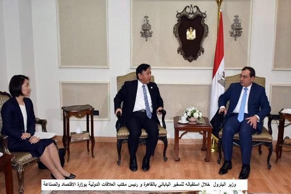 وزير البترول يبحث تنفيذ مشروعات البتروكيماويات فى مصر مع اليابان