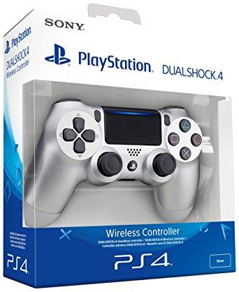 Sony – Dualshock 4 V2 Mando Inalámbrico, Color Plateado (PS4)