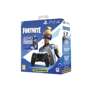 MANDO PS4 DUAL SHOCK 4 NEGRO V2+FORNITE VOUCHER
