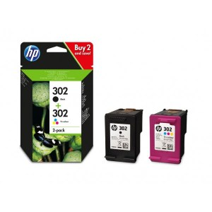 CARTUCHO HP 302 PACK 2 NEGRO + COLOR ( CIAN, MAG