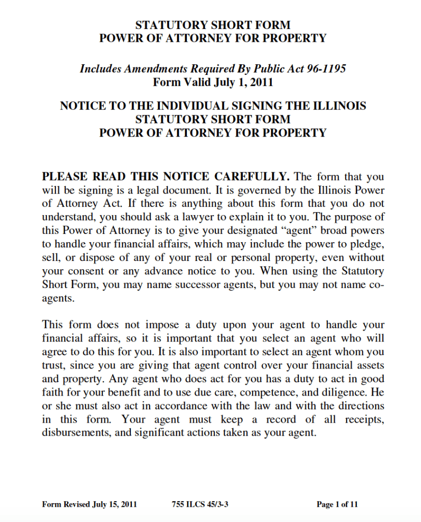 Free durable power of attorney illinois form adobe pdf illinois durable power of attorney form adobe pdf falaconquin