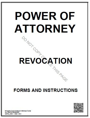 Arizona POA Revocation Form
