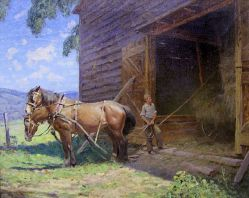 small_victor-anderson-farm-boy-and-horse-team-loading-hay