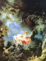 22. Jean-Honore Fragonard, The Swing. 1767. Oil on canvas, 81×64.2cm. Wallace Collection, London.
