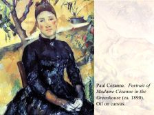 Madame Cézanne in the. Greenhouse (ca. 1890). Oil on canvas.