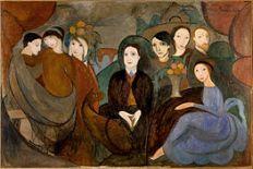 Marie_Laurencin,_1909,_Réunion_à_la_campagne_(Apollinaire_et_ses_amis),_oil_on_canvas,_130_x_194_cm,_Musée_Picasso,_Paris