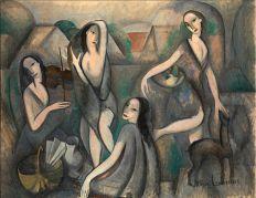 Marie_Laurencin,_1910-11,_Les_jeunes_filles,_Jeune_Femmes_(Young_Girls),_oil_on_canvas,_115_x_146_cm,_Moderna_Museet,_Stockholm