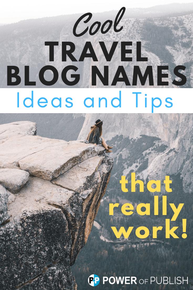 travel blogging names
