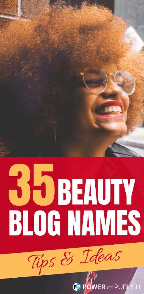 beauty blogging names