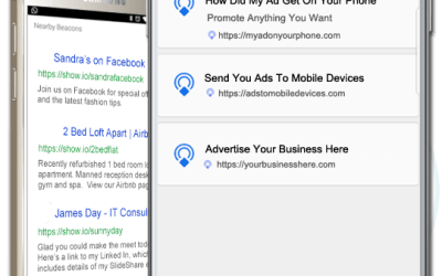 PUT YOUR MESSAGE AND CALL TO ACTION ON EVERY ANDROID PHONE WITHIN 100 YARDS