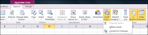 OLAP Tools Convert to Formulas