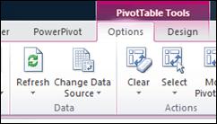 Pivot Options Tab Refresh