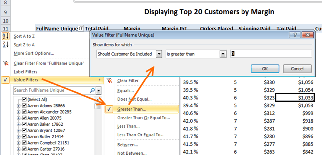 PowerPivot Filtering The Pivot Such That Only the TopN Are Included, Via Our IF Measure