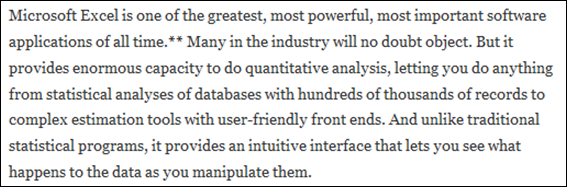"""""""Excel-Negative"""" Articles Cited This Post by James Kwok as Evidence that Excel Sucks.  But James Kwok LOVES Excel.  As he should."""