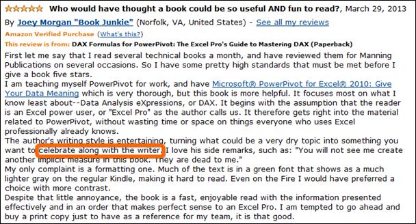 The Latest PowerPivot Book Review