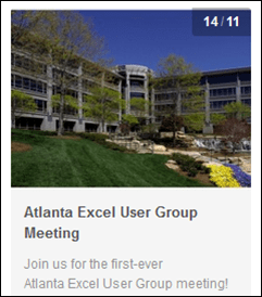 Excel and Power Pivot User Group in Atlanta