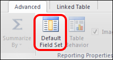 Power Pivot Default Field Set