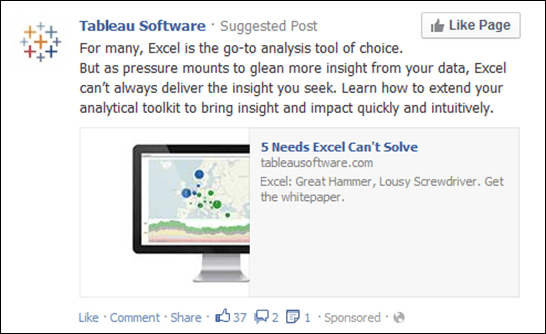Tableau Versus Excel.  Not Tableau versus Power Pivot.  That is telling, ye?
