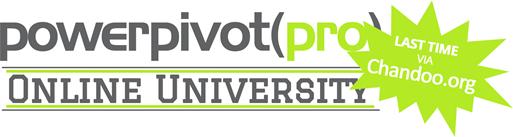 PowerPivotPro University, aka Advanced Power Pivot on Chandoo's site.