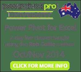 PowerPivot Pro Training Australia