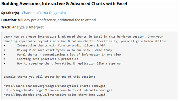Excel Charts and Dashboards Class by Chandoo