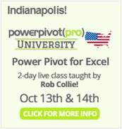 Power Pivot / Power BI Class