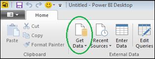 Open PowerBI desktop and choose Get Data