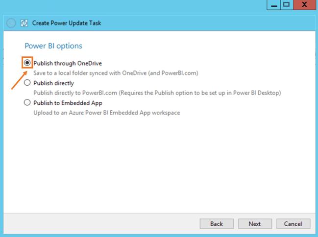 Power Update Publish through OneDrive PBI Desktop