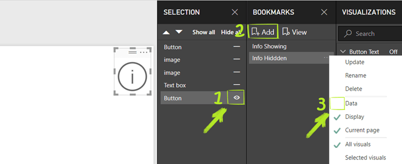 Create Info Hidden Bookmark