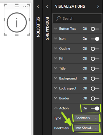Turn on Action For Button