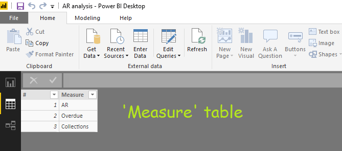 measure table