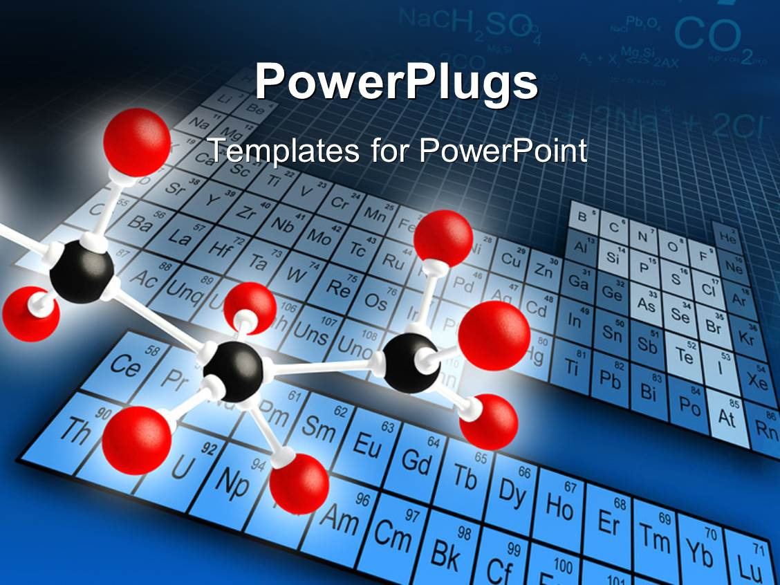 Powerpoint Template Science Concepts Of Molecular