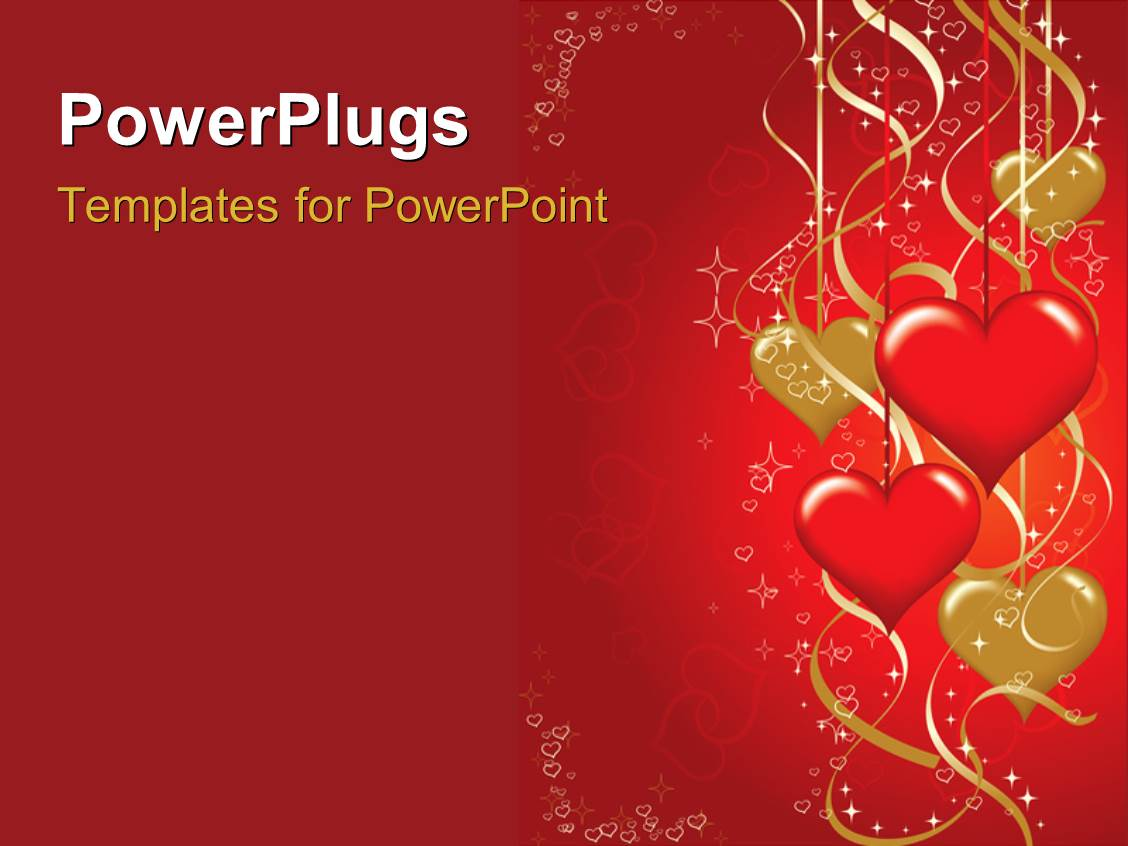 Powerpoint Template Valentines Background With Hearts