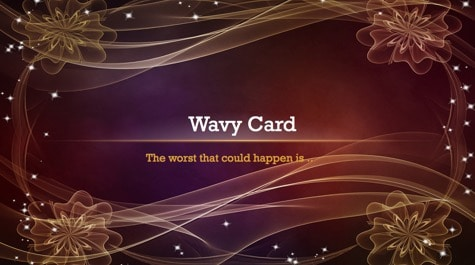 Curly Waves Card PowerPoint Background 1 Brown PowerPoint Backgrounds