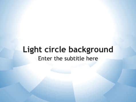 Light Circle Background Simple PowerPoint Backgrounds