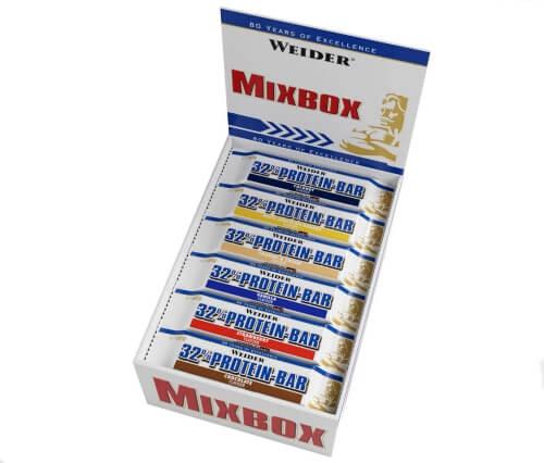Weider 32 % Eiweißriegel Mix-Box