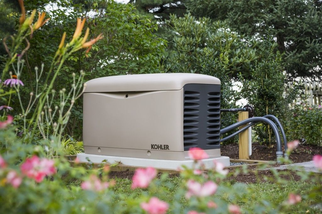 Generator with pink flowers