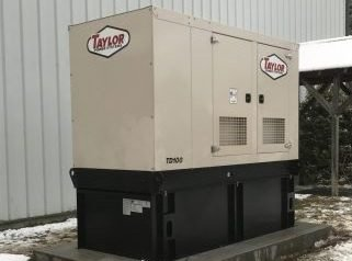 commercial generator during winter